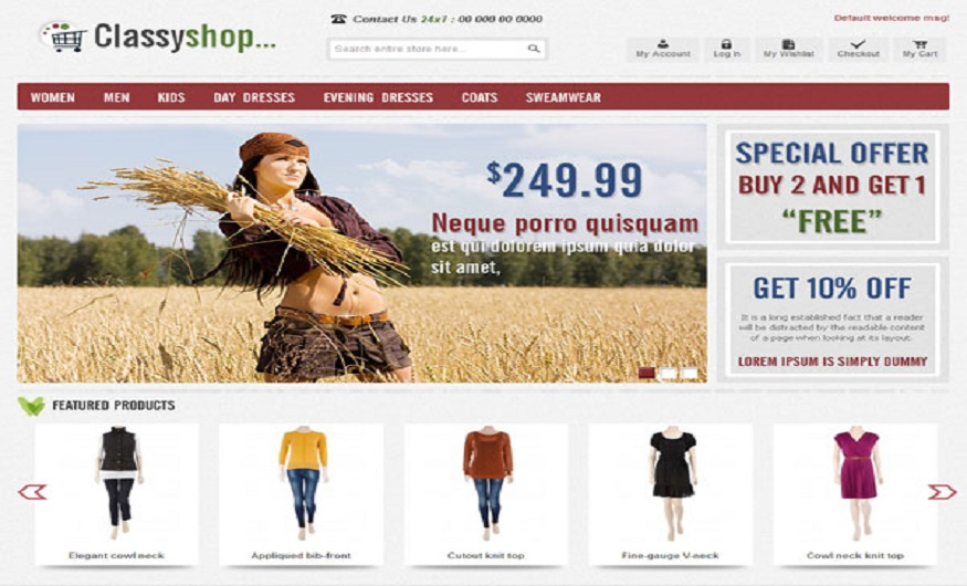 Magento Theme Product Review - ClassiShop Magento eCommerce Theme