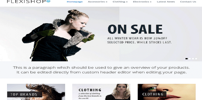 WordPress eCommerce Themes Reviews - WP Flexishop WordPress eCommerce Theme