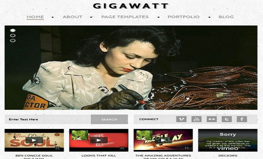 WordPress eCommerce Themes Reviews - Gigawatt WordPress eCommerce Theme