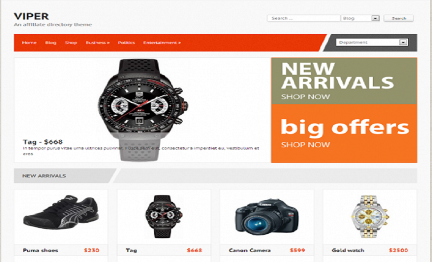 WordPress eCommerce Themes Reviews  - Viper WordPress eCommerce Theme