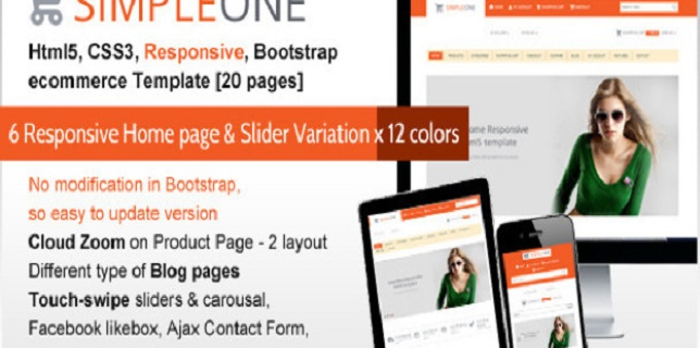 Bootstrap eCommerce HTML Template - Simple One Bootstrap eCommerce HTML Template