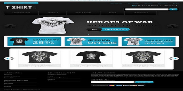 eCommerce HTML Theme Reviews – Beautiful T-Shirt Store eCommerce HTML Theme