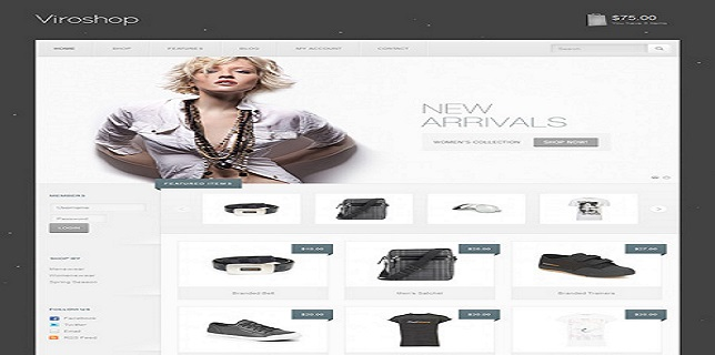eCommerce HTML CSS Theme Review - Viroshop Modern Responsive eCommerce Theme