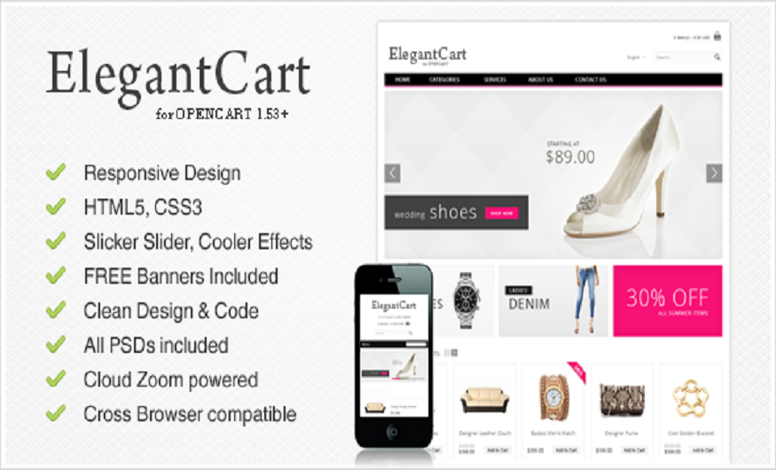 Themeforest eCommerce Themes Review - Elegant Cart Themeforest eCommerce Theme