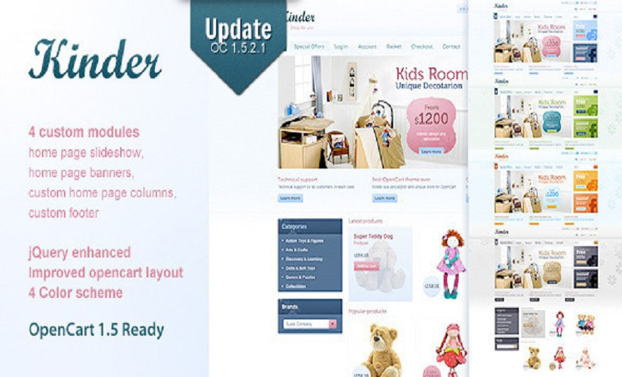 Themeforest eCommerce Themes Review - Kinder Themeforest eCommerce Open Cart Theme