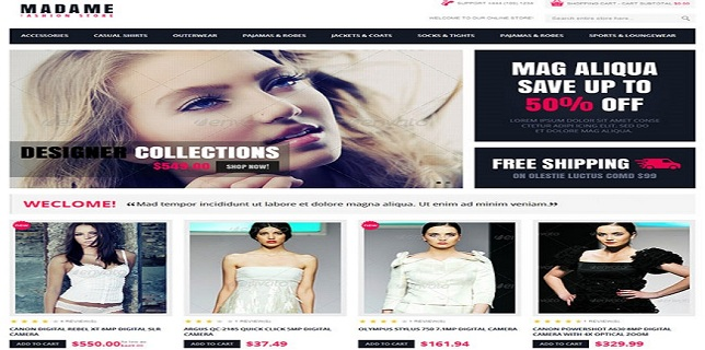 Magento eCommerce Themes Reviews -Madame Responsive Fashion Store Magento Templates