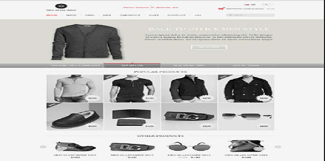 eCommerce HTML Templates Reviews –  Men Style eCommerce HTML Template