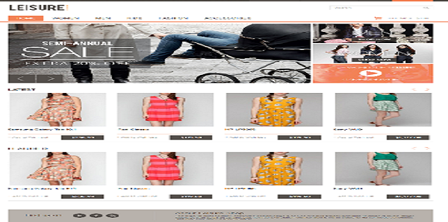 Themeforest eCommerce Theme - Leisure Themeforest eCommerce Theme