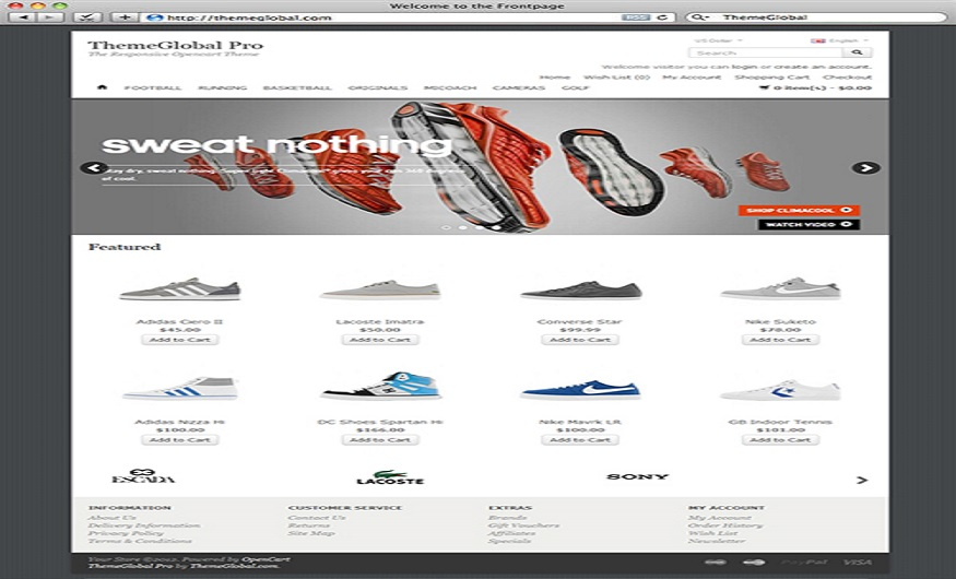 Opencart eCommerce Themes Reviews - ThemeGlobal Opencart eCommerce Theme